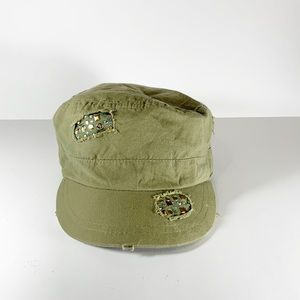 Justice green kids hat one size